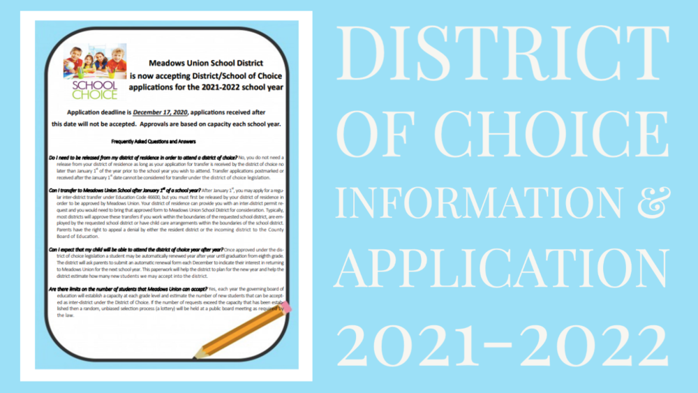 District of Choice Application & Flyer