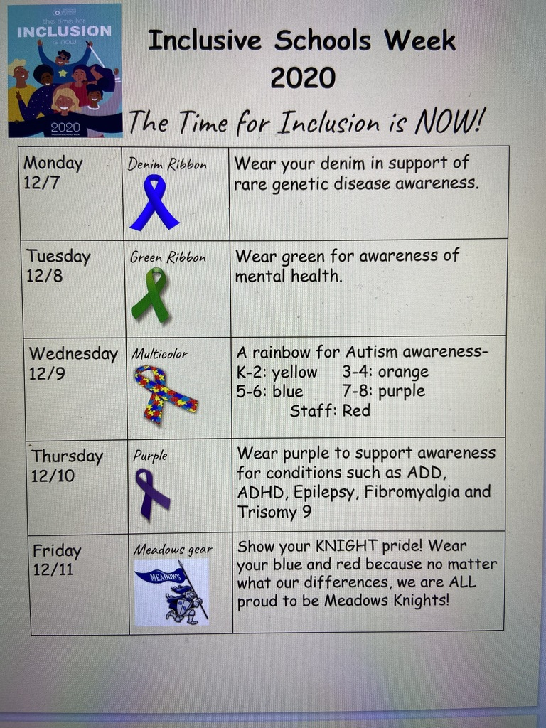 Flyer for Inclusive Schools Week