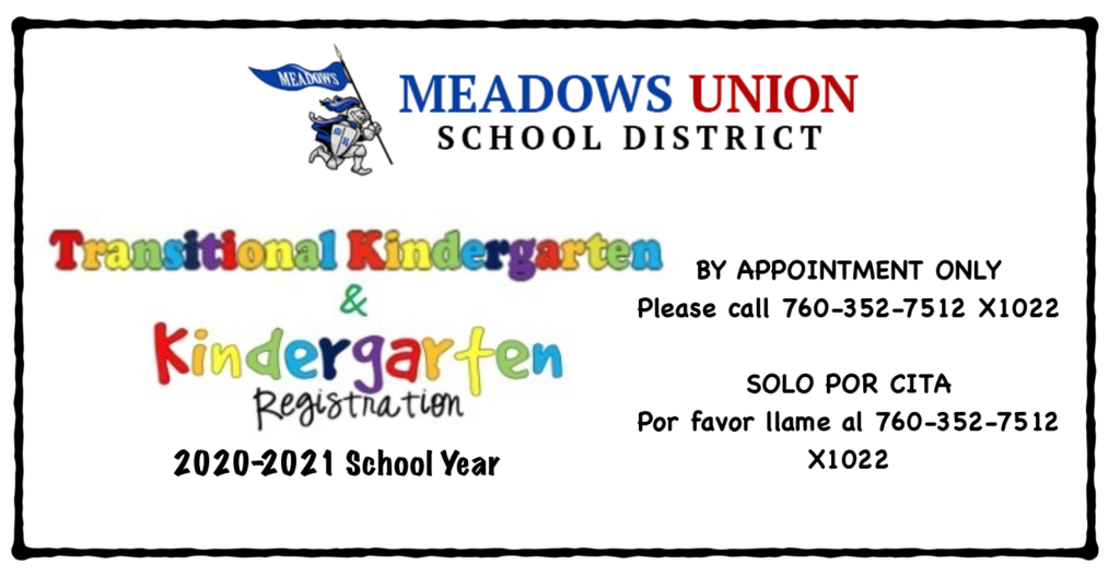 Kindergarten Registration is open please call for appointment only