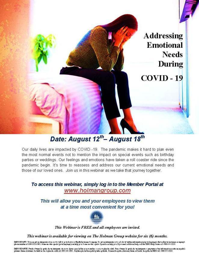 Addressing Emotional Needs During Covid-19